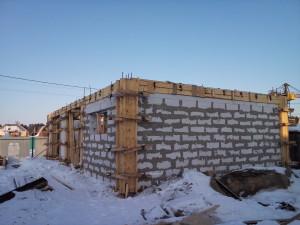 Строительство одноэтажного дома из газобетона