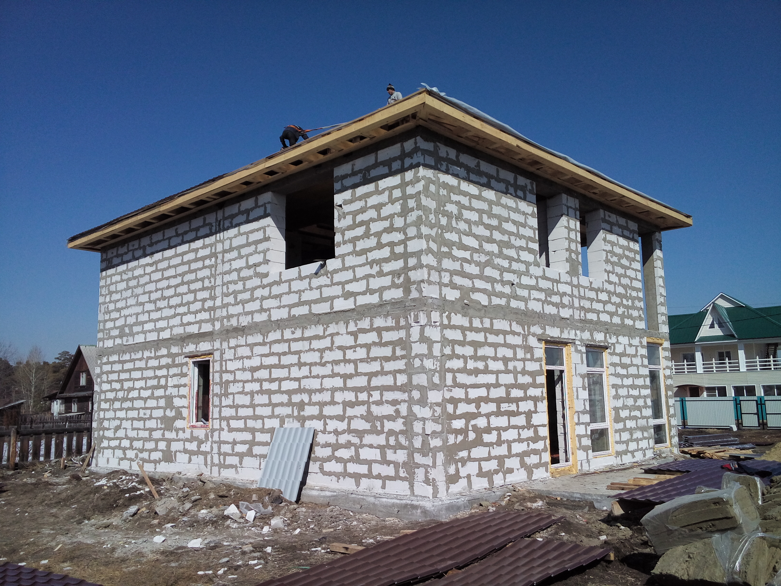 Koľko stojí za výstavbu domu z pórobetónu v Irkutsku
