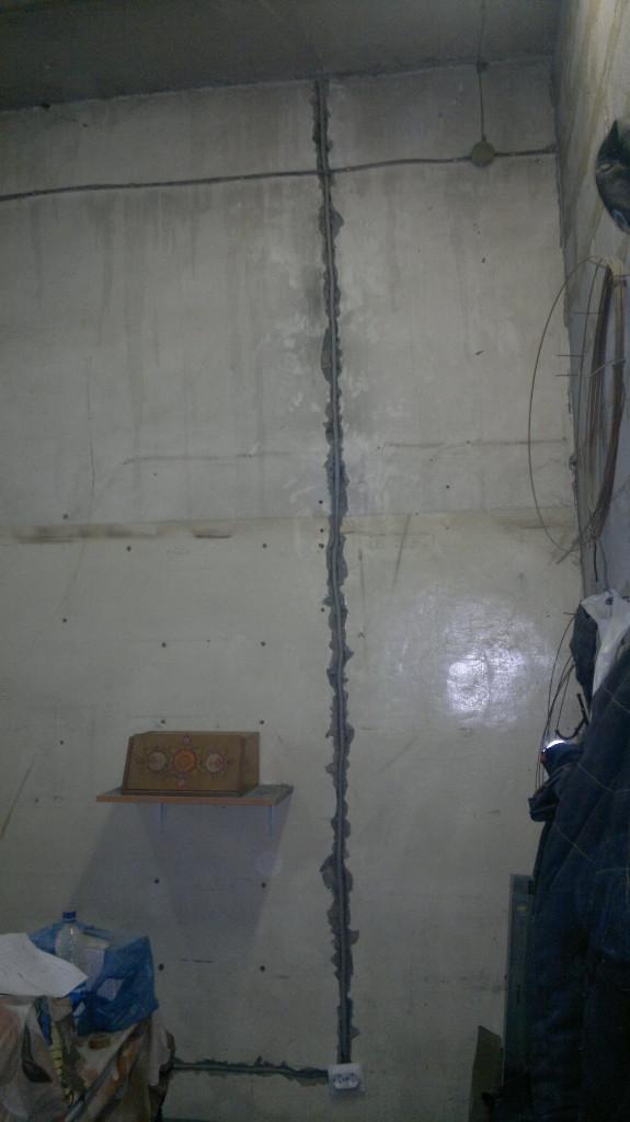 Электропроводка под
