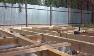 Строительство сруба бани из бруса