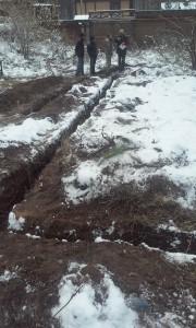 Копка траншеи под ленточный фундамент в Иркутске и Ангарске