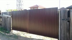 Ворота дачные металлические