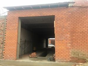 Каркасный гараж с навесом