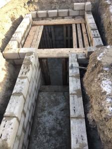Строительство подвала из блоков