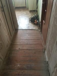 Замена полов. Начало ремонта квартиры.