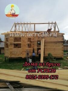 Строительство домов из бруса на сваях